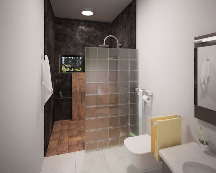Baños de estilo moderno por ANGOLO-grado arquitectónico