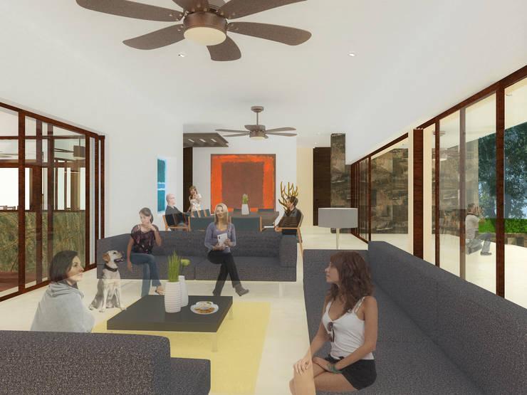 ESPACIO PÚBLICO: Salas de estilo  por ANGOLO-grado arquitectónico