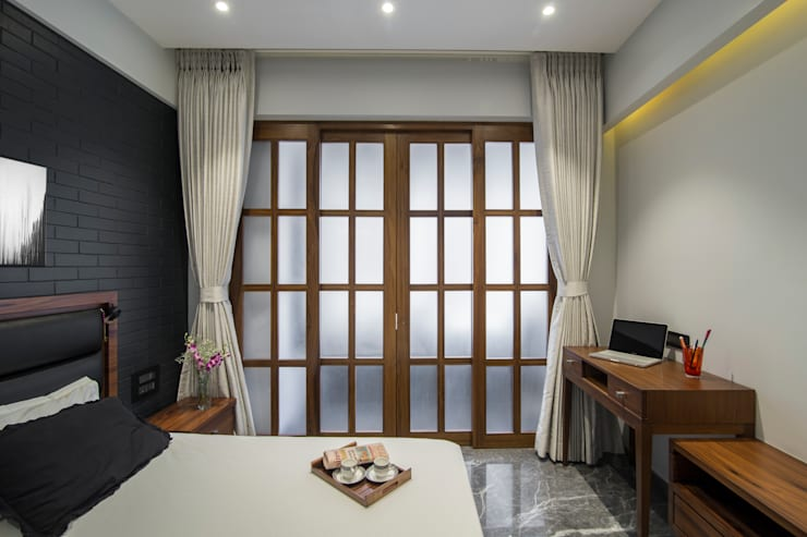 Residential—Marine Drive: modern  by Nitido Interior design,Modern Solid Wood Multicolored