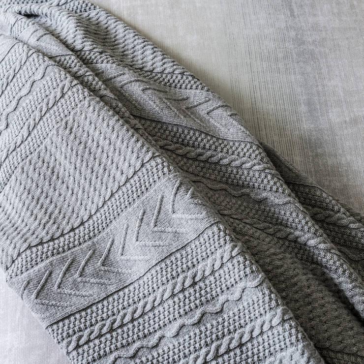 Grey Bay - Roupa de cama 100% algodão Egipto penteado / Manta: Quarto  por Home Concept