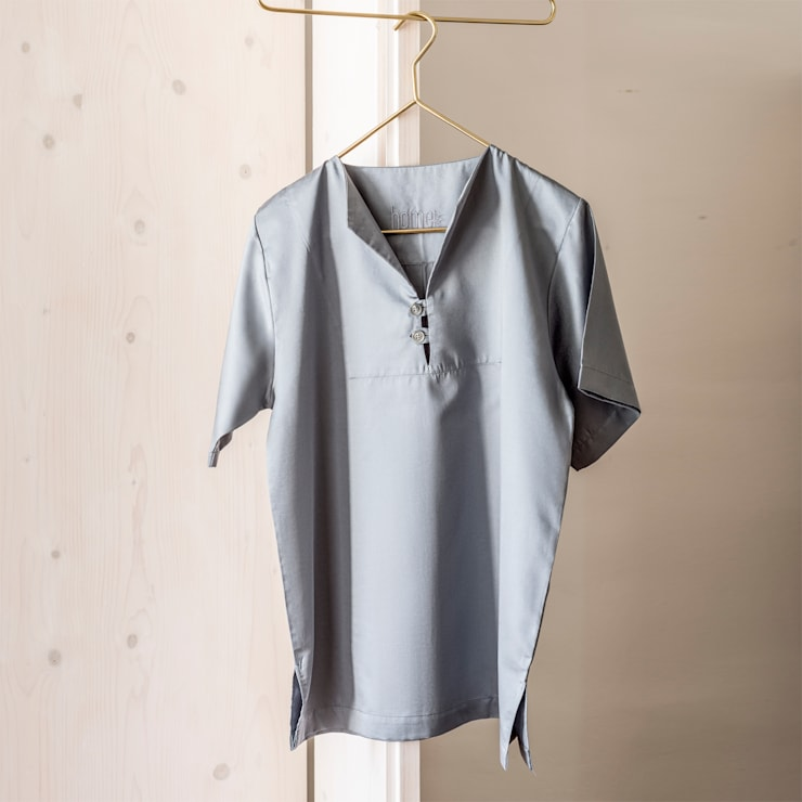 Grey Bay - Pijama 100% Algodão Egipto penteado: Quarto  por Home Concept