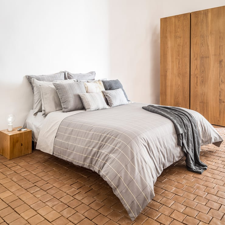 Camouflage - Roupa de cama 100% algodão Egipto penteado | Almofadas decorativas | Manta: Quarto  por Home Concept