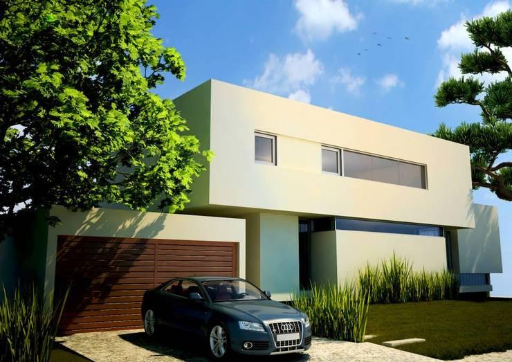 Renders de exteriores :  de estilo  por Estudio De Donato - Arq & Viz -