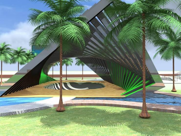 vista frontal:  de estilo  por ARCHI DESIGN IBAGUE