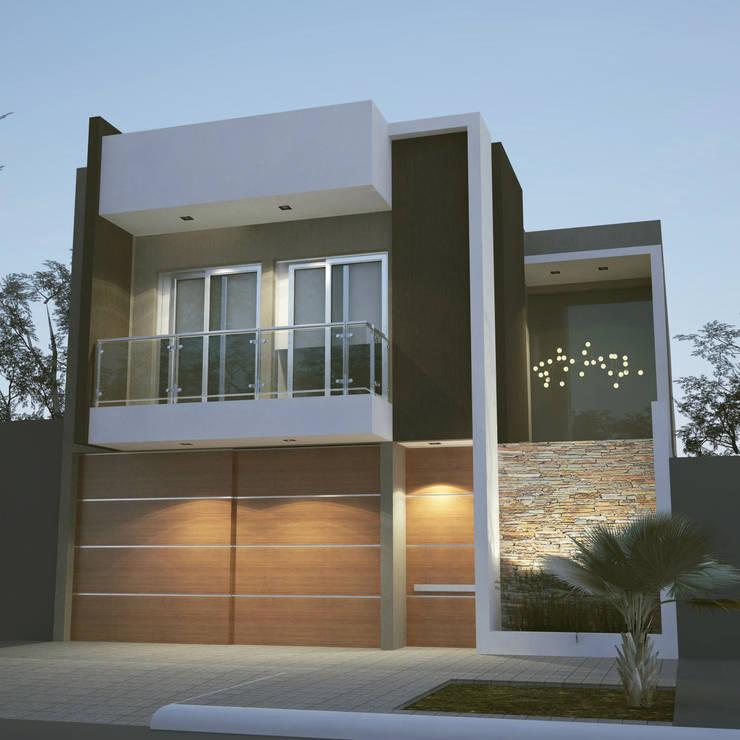 Moderno Objeto entre Medianeras: Casas de estilo  por FILIPPIS/DIP - DISEÑO Y CONSTRUCCION
