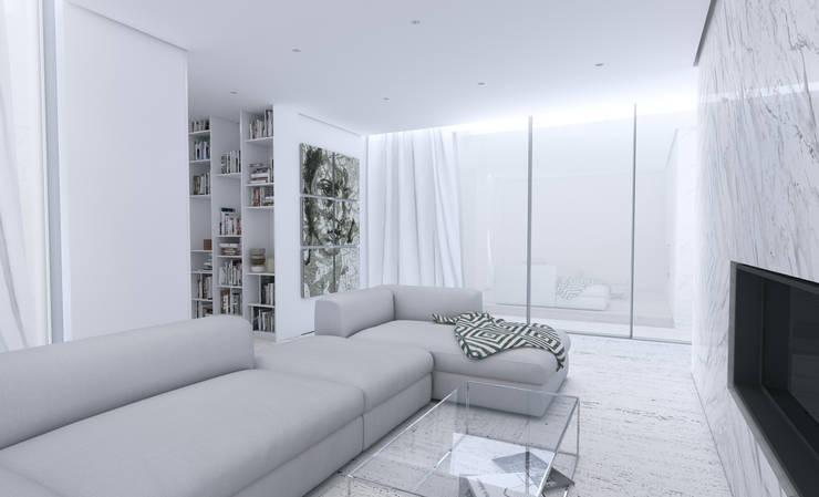 Salas de estar minimalistas por Varq.