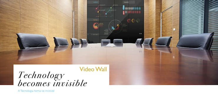 IllusionTV Video Wall: Salas multimédia  por Glassinnovation - Glass'IN