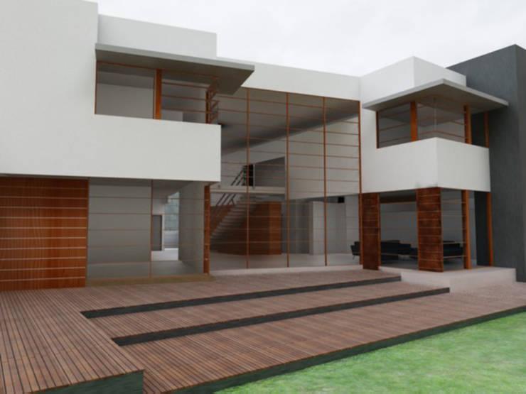 Casa Atlamaya : Casas de estilo  por ARCO Arquitectura Contemporánea ,