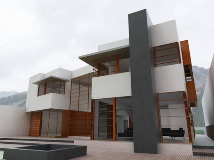 Casa Atlamaya : Casas de estilo  por ARCO Arquitectura Contemporánea
