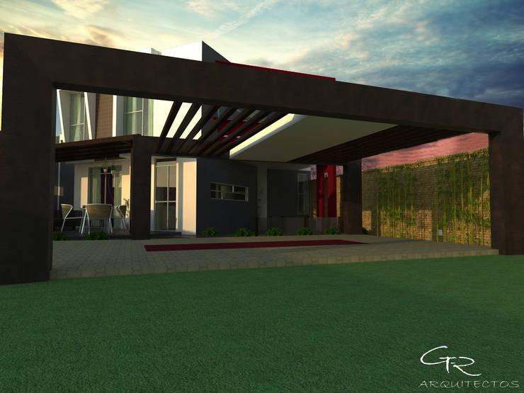 House Paraíso: Garajes de estilo  por GT-R Arquitectos