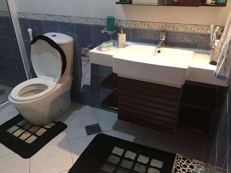 Villa Interiors Muscat: modern Bathroom by KamalKavitaInteriors