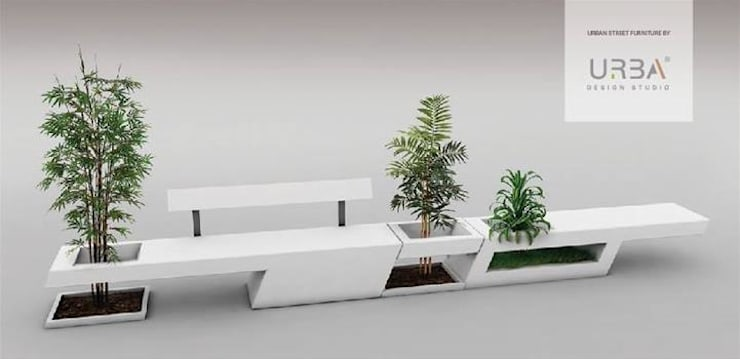 Mobiliário Urbano: Jardim  por Urba Design Studio