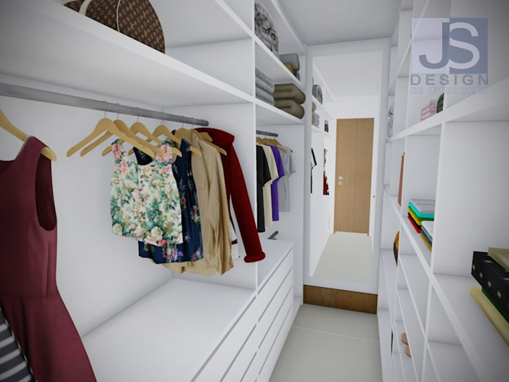 Walk in closet de estilo  por JS Interiores