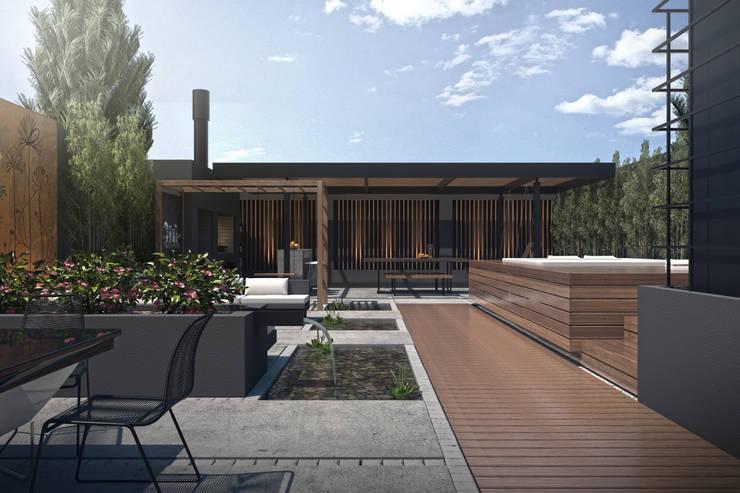 Terrazza in stile  di TDC - Oficina de arquitectura, Moderno