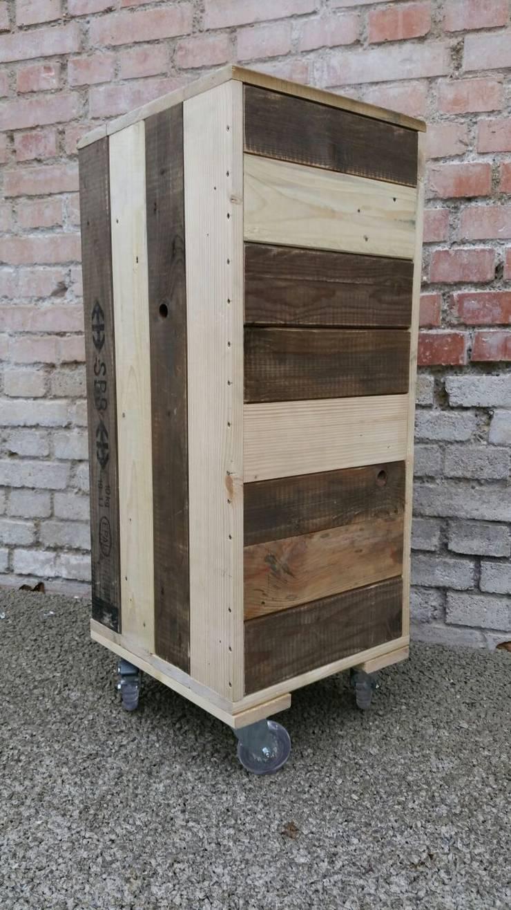 schubladenelement b ro rollcontainer aus palettenholz von. Black Bedroom Furniture Sets. Home Design Ideas
