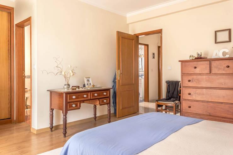 ห้องนอน by Pedro Brás - Fotógrafo de Interiores e Arquitectura | Hotelaria | Alojamento Local | Imobiliárias