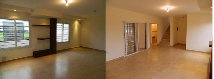Viviendas  – Duplex: Comedores de estilo  por Alejandro Acevedo - Arquitectura,Moderno Contrachapado