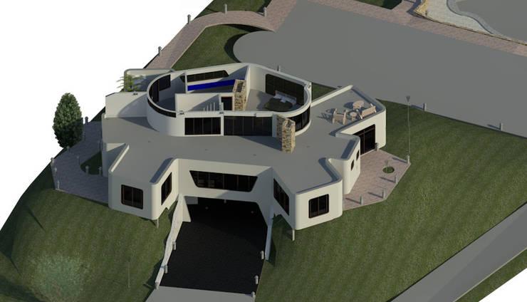 Sección Horizontal de Habitación principal.: Oficinas de estilo  por Bioarke Construcciones C.A.