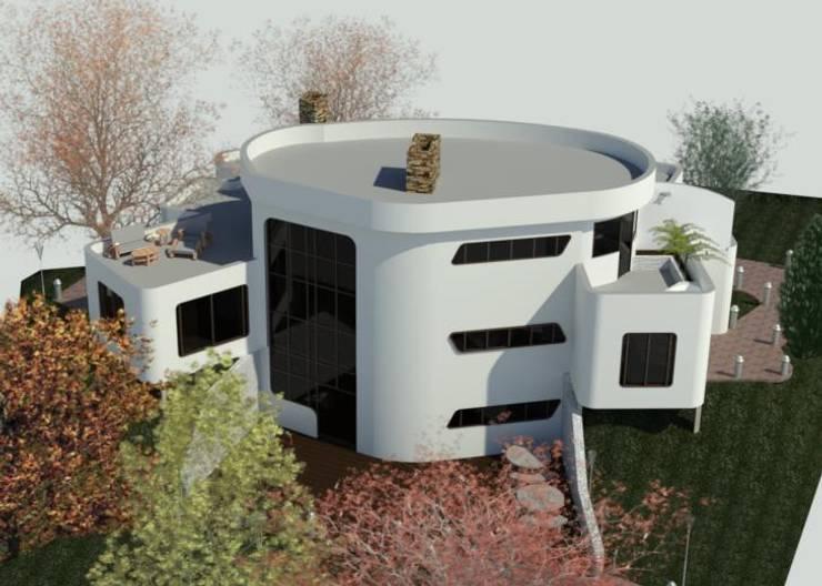 Fachada Posterior: Casas de estilo  por Bioarke Construcciones C.A.