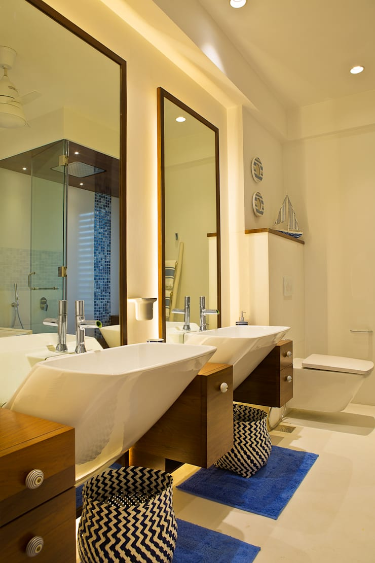 Residential—Juhu 2: modern Bathroom by Nitido Interior design