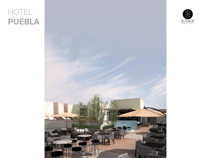 Terraza Bar 2 Hoteles de estilo moderno de Bloque Arquitectónico Moderno