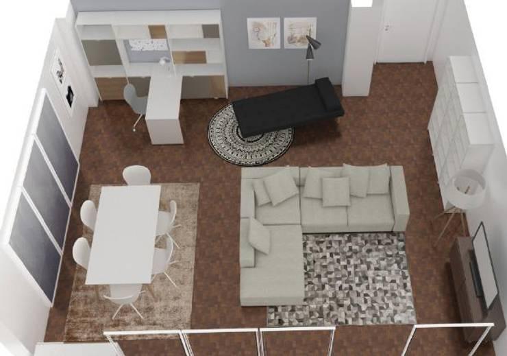 Projeto Sala: Salas de estar  por AnaPacheco - BoConcept Interior Designer