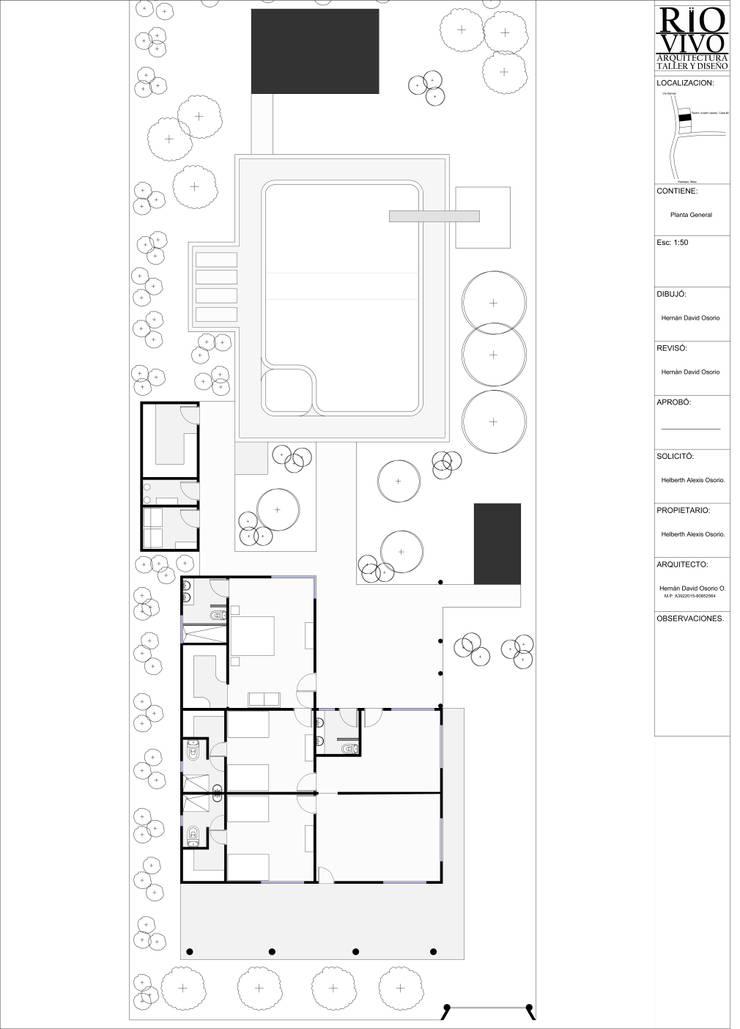 Plano Base de Rio Vivo Arquitectura, Taller y Diseño.
