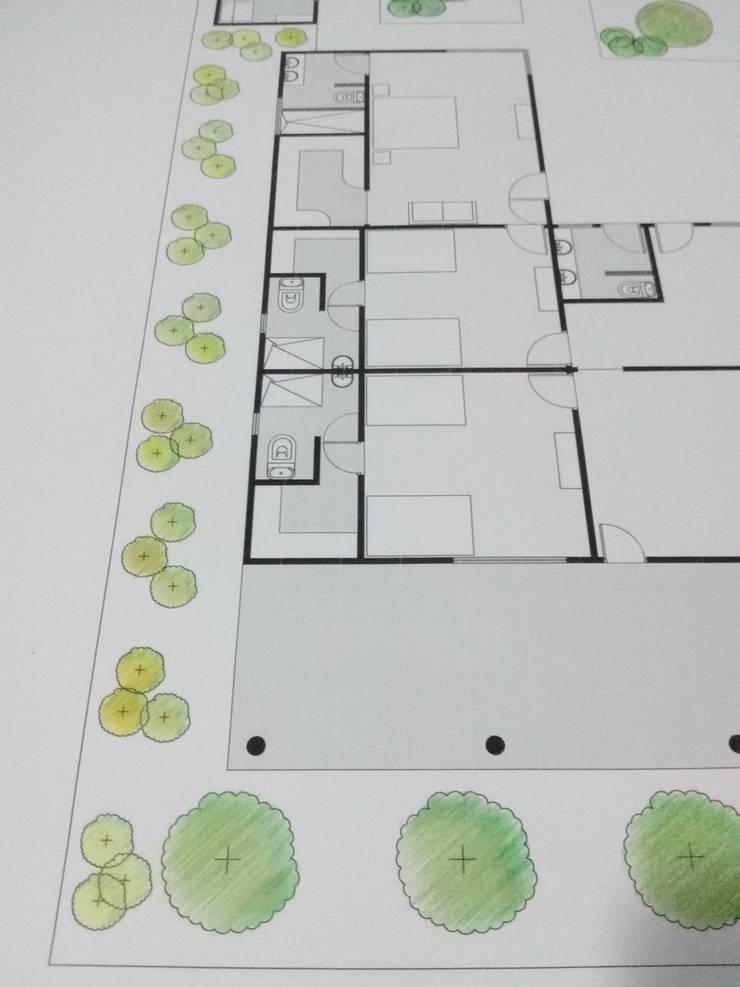 Plano base Color de Rio Vivo Arquitectura, Taller y Diseño.