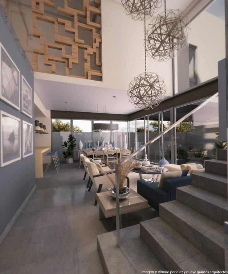 Sala: Salas de estilo  por Diez y Nueve Grados Arquitectos