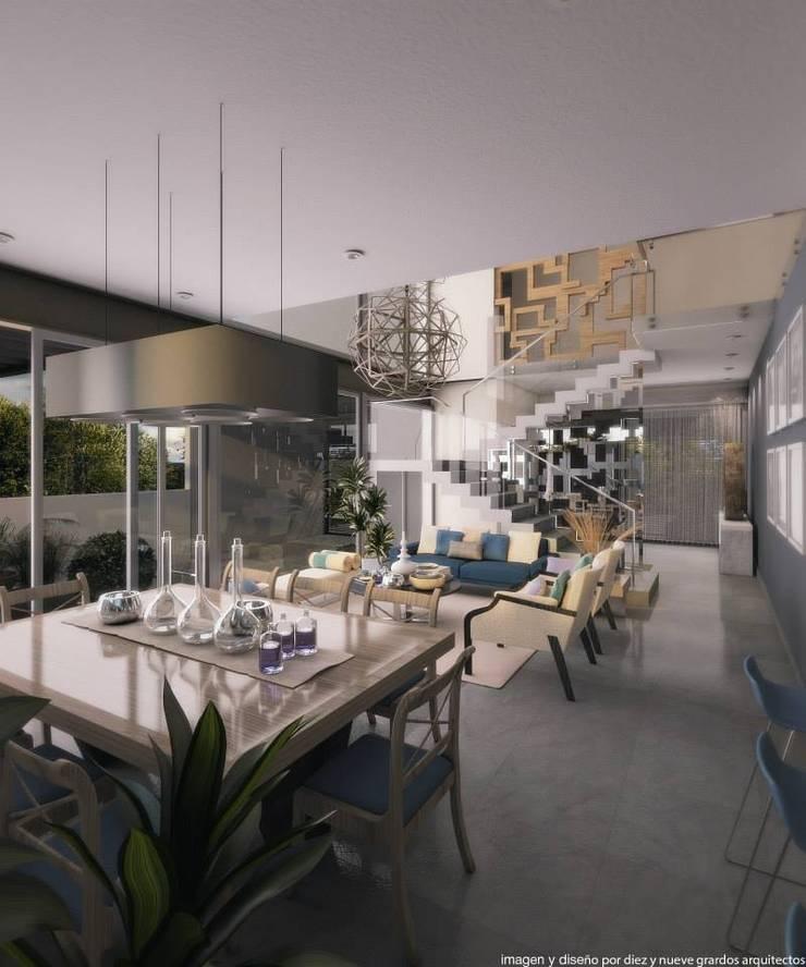 Comedor: Comedores de estilo  por Diez y Nueve Grados Arquitectos