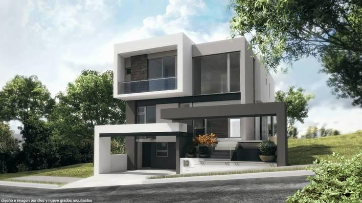 Fachada principal: Casas de estilo  por Diez y Nueve Grados Arquitectos