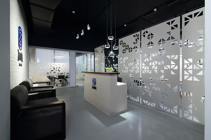 Commercial - Mulund:  Commercial Spaces by Nitido Interior design,Industrial Concrete