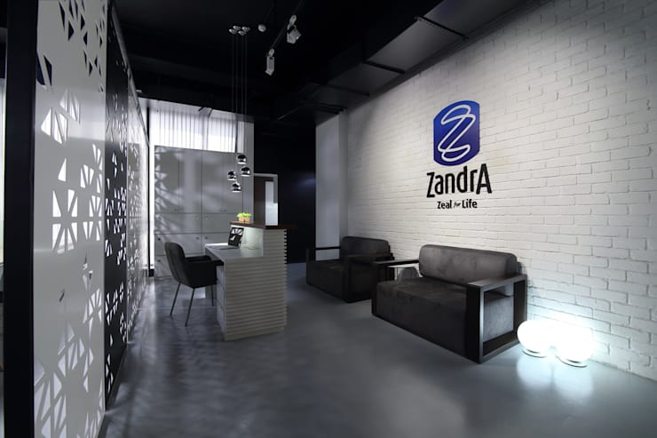 Commercial—Mulund:  Commercial Spaces by Nitido Interior design,Industrial Bricks