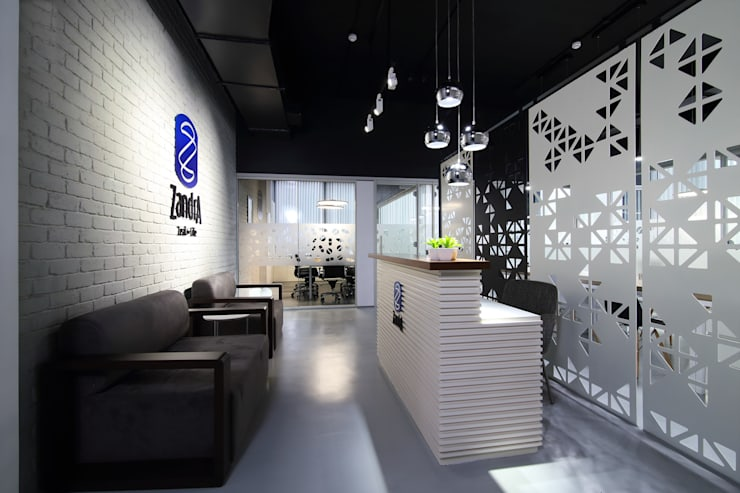 Commercial—Mulund:  Commercial Spaces by Nitido Interior design,Industrial Solid Wood Multicolored
