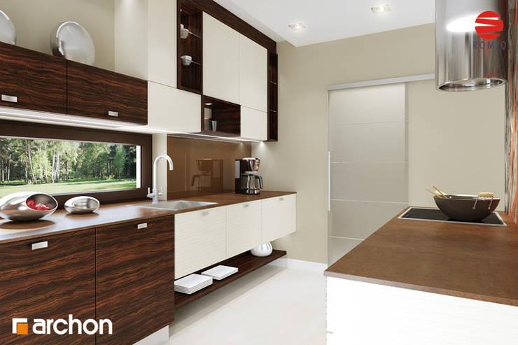 Projekt: Dom w daktylowcach (G2): styl , w kategorii  zaprojektowany przez ARCHON+ PROJEKTY DOMÓW