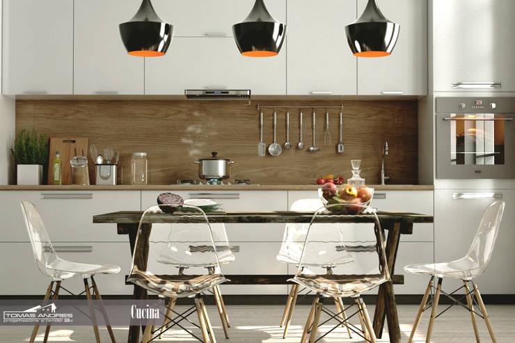 Cocinas de estilo  por Tomas Andres