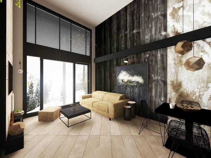 Livings de estilo  por Hanna Szczypińska - Architektura Wnętrz