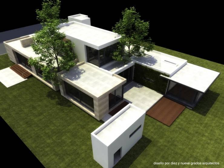 Perspectiva aérea:  de estilo  por Diez y Nueve Grados Arquitectos