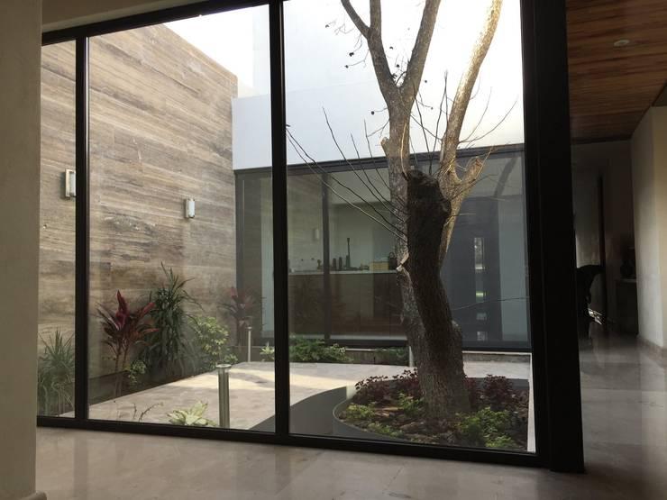 Jardín interior: Jardines de estilo  por Diez y Nueve Grados Arquitectos