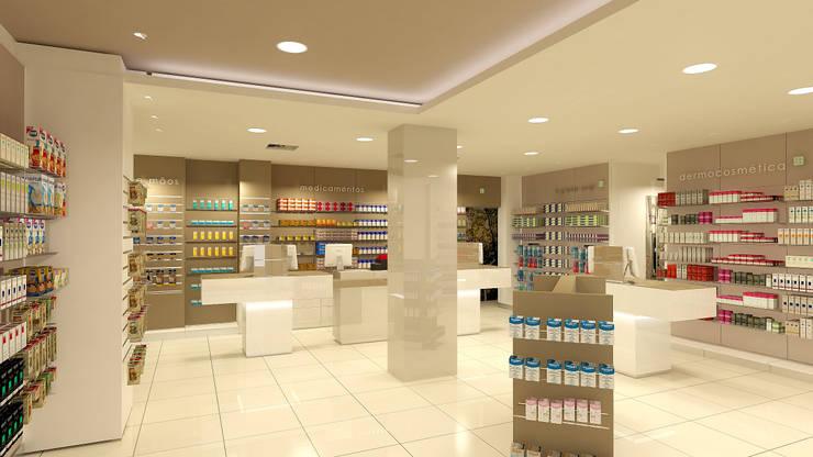 Farmácia: Escritório e loja  por CONTRAÇO