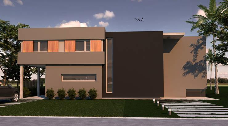 Vivienda L+A: Casas de estilo  por Indinaco srl Construcciones y servicios