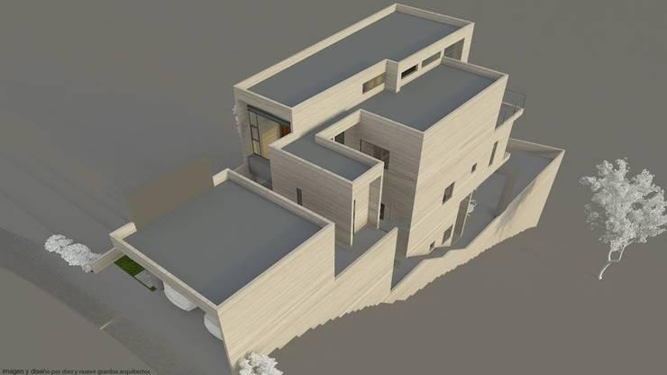 Vivienda Ozuna:  de estilo  por Diez y Nueve Grados Arquitectos