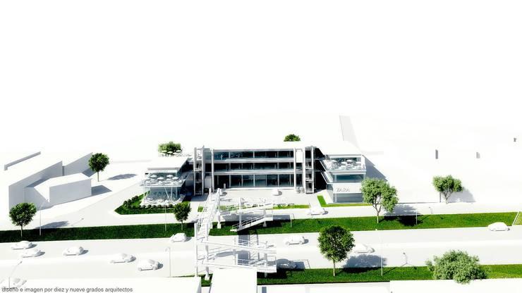 Perspectiva frontal:  de estilo  por Diez y Nueve Grados Arquitectos