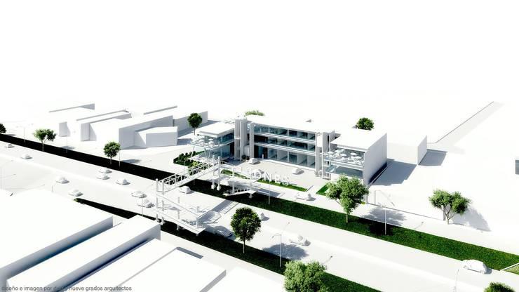 Perspectiva derecha:  de estilo  por Diez y Nueve Grados Arquitectos