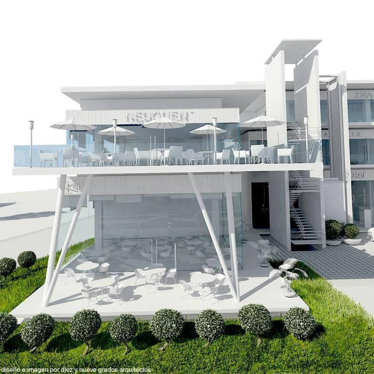 Terraza y patio techado:  de estilo  por Diez y Nueve Grados Arquitectos