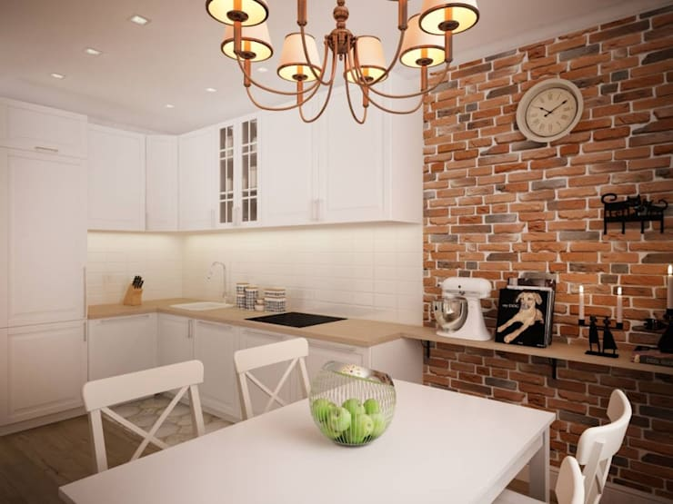 minimalistische Küche von дизайн-бюро ARTTUNDRA