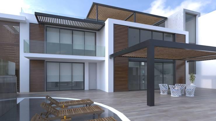Fachada principal: Casas de estilo  por Area5 arquitectura SAS