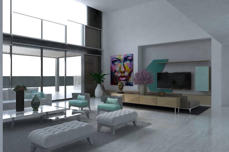 Sala: Salas de estilo  por Area5 arquitectura SAS