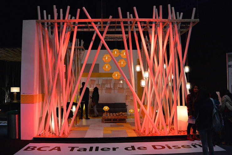 Pabellon Tendencias Habitat 2015: Paisajismo de interiores de estilo  por BCA Arch and Interiors