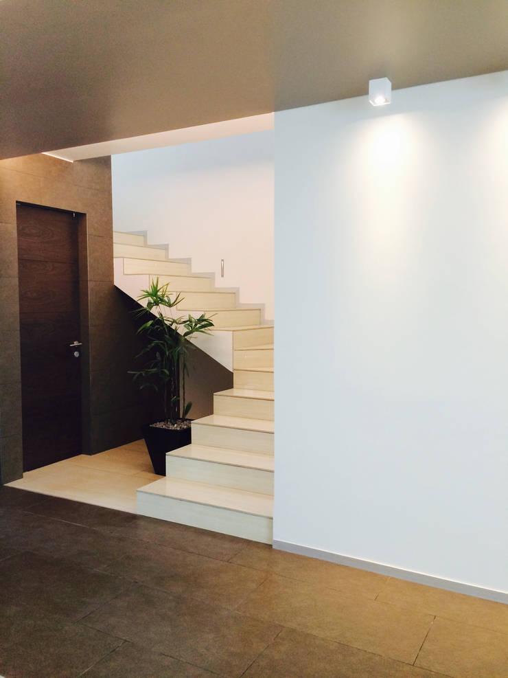 Casa Invernadero : Pasillos y recibidores de estilo  por BCA taller de diseño
